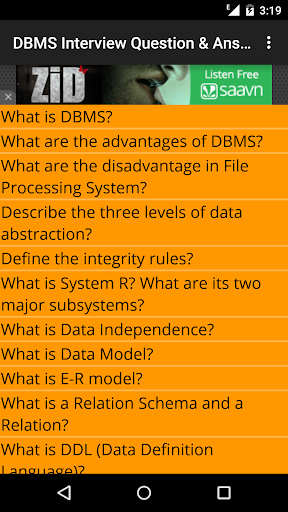DBMS Interview Question Answer
