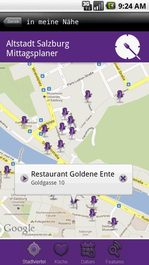 Mittagsmenüs Salzburg Altstadt- screenshot