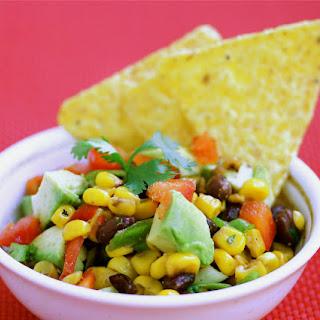 Roasted Corn, Avocado and Black Bean Salsa.