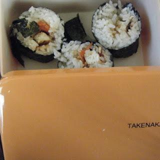 Gimbap Oppan Gangnam Style (Korean Seaweed Rice Rolls).