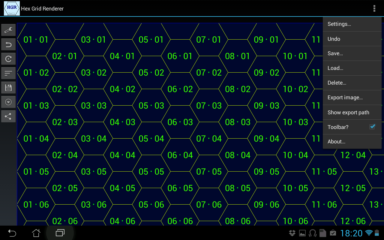 Hex Grid Renderer- screenshot