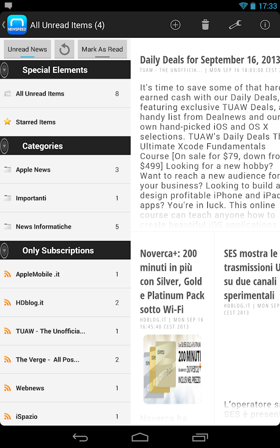 NewsFeed - Feedly Client- screenshot