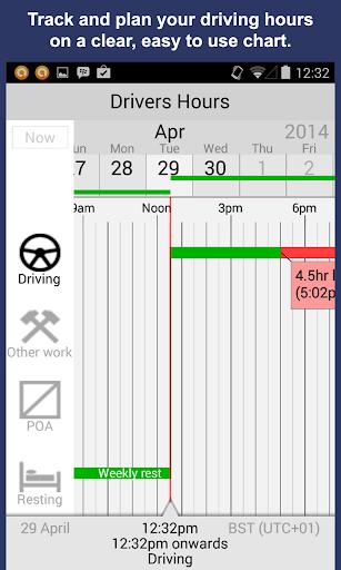 Drivers Hours Log Timer