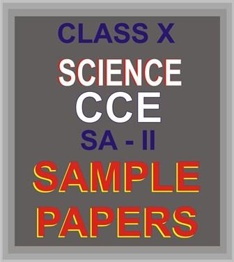 CBSE Class X Sci SA-2 S Papers