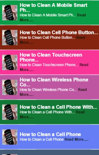Clean Phone Tip