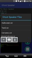 Screenshot of Ghost Speaker