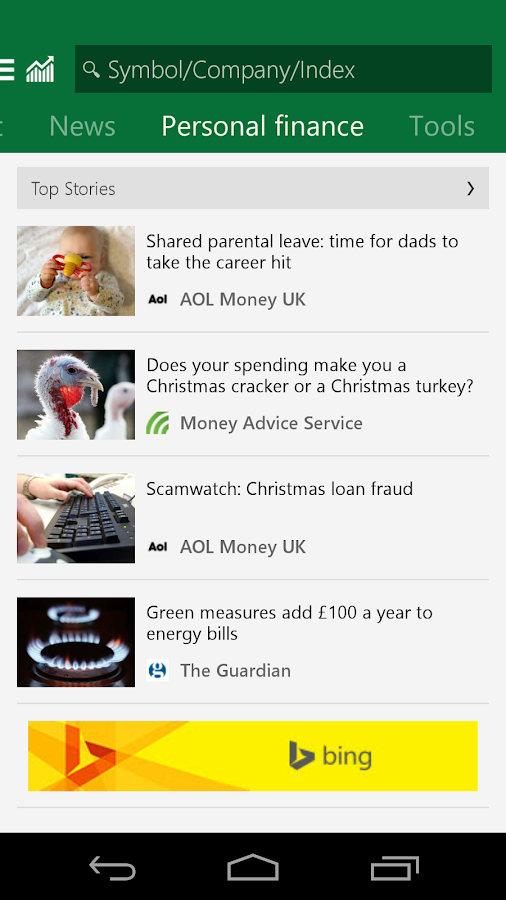 msn money  u2013 stock quotes  u2013 android apps on google play
