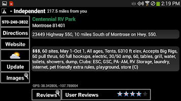 Screenshot of Camp and RV - Campgrounds Plus