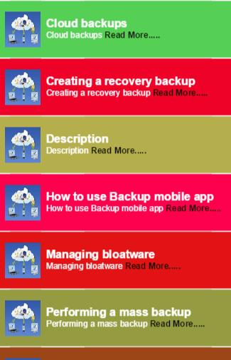 Backup mobile app