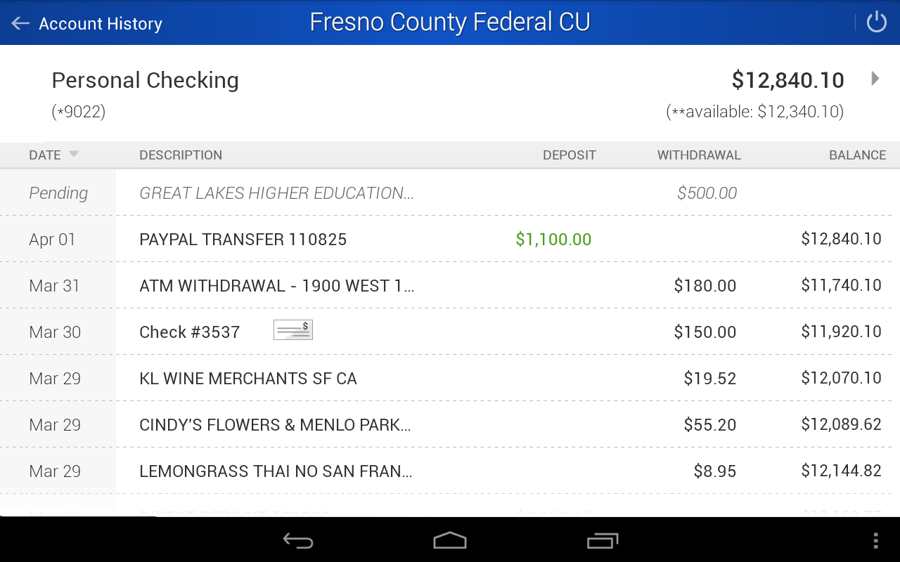 FCFCU Mobile- screenshot