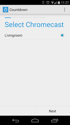 Countdown App Chromecast