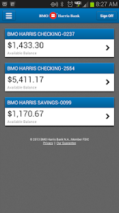 BMO Harris Mobile Banking - screenshot thumbnail