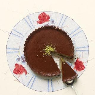 Milk Chocolate-Pistachio Tart.