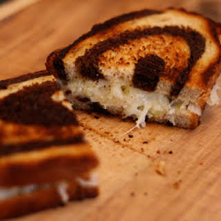 Grilled Cheese Sandwiches with Sauerkraut on Rye.