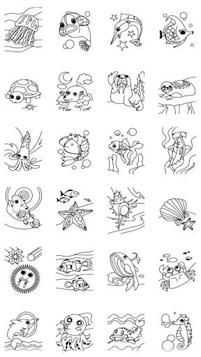 【免費教育App】孩子著色 ( 海洋動物 )-APP點子