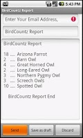 Screenshot of BirdCountz Lite