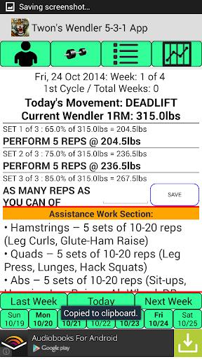 Twon's Wendler 5-3-1 App