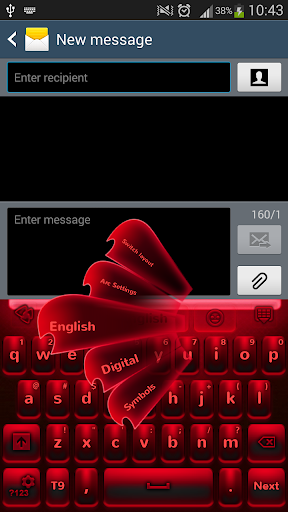 红色霓虹灯键盘