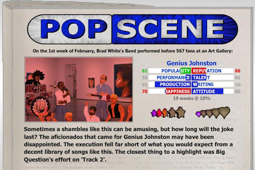 Popscene (Music Industry Sim) Screenshot