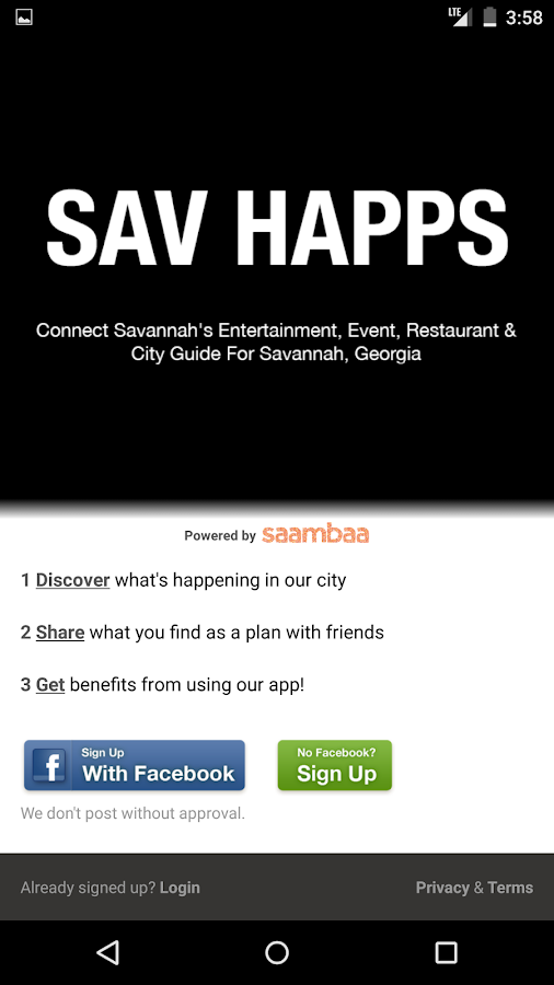 SAV HAPPS - Savannah Events- screenshot