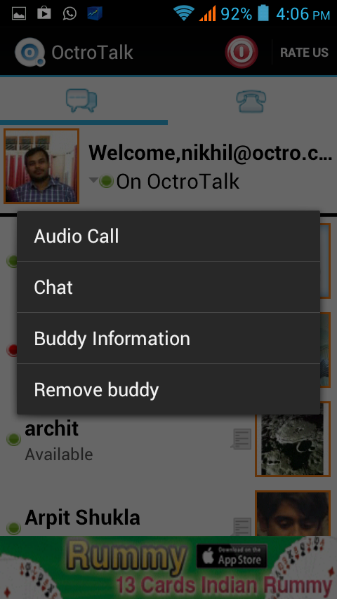 OctroTalk - screenshot