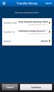Dime Community Bank eBanking- screenshot thumbnail