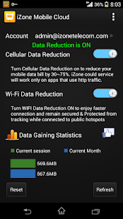 iZone Cloud | Data Savings- screenshot thumbnail