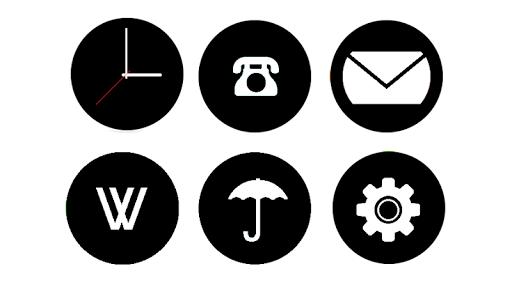 Alira - black round icon pack