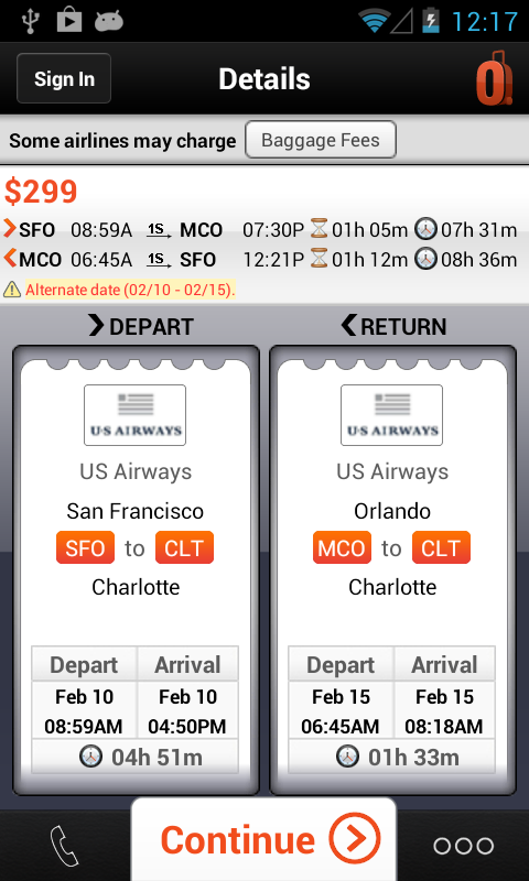 CheapOair Flights and Car - screenshot