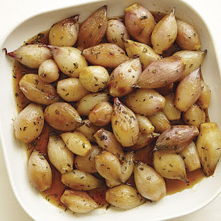 Roasted Shallots with Sweet-and-Sour Sauce.