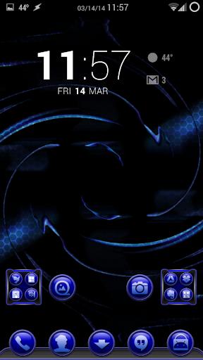 TrueBlue Apex/ADW/Nova 1.1.9 screenshots 1