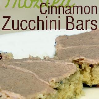 Frosted Cinnamon Zucchini Bars Recipe