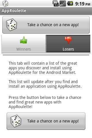 AppRoulette - screenshot