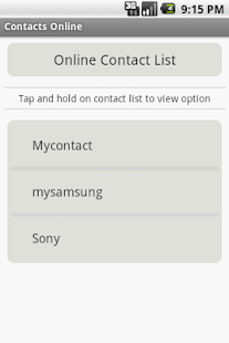 Contacts Online- screenshot thumbnail