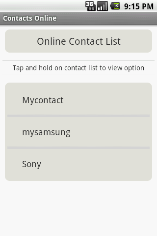 Contacts Online- screenshot