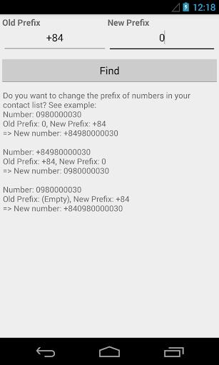 Edit Prefix Number