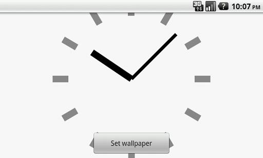【免費個人化App】シンプル時計壁紙(白)-APP點子
