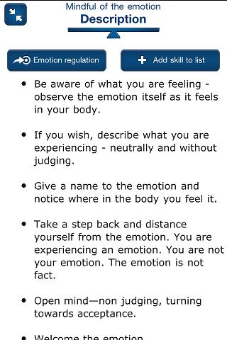 DBT Self-help - screenshot