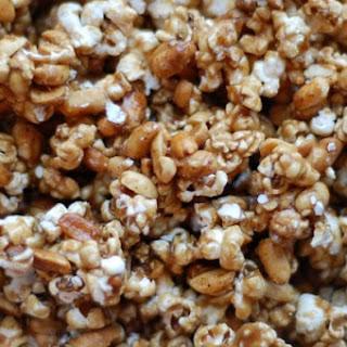 Spicy Peanut Caramel Corn
