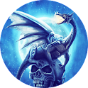 Dragon on Skull Live Wallpaper icon