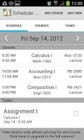 Screenshot of School Scheduler