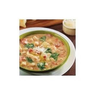 Creamy Tuscan Bean and Chicken Soup.