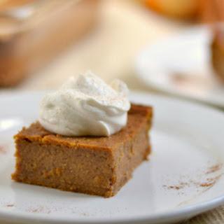 Whole Wheat Crustless Pumpkin Pie Bars(Dairy Free Option)
