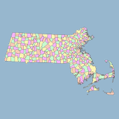 Massachusetts Map Puzzle