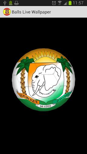 3D Ball Ivory Coast LWP