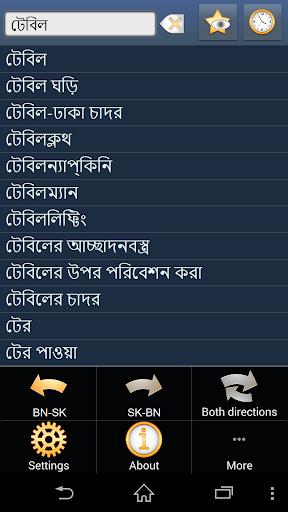 Bengali Slovak dictionary +