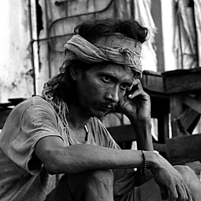 Thinking.. by Arup Chowdhury - People Street & Candids