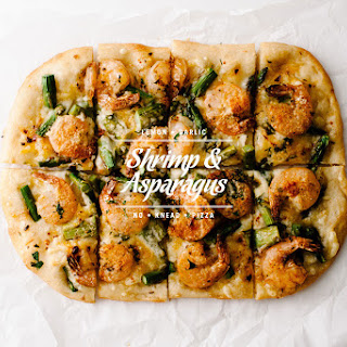 Shrimp Asparagus Pizza