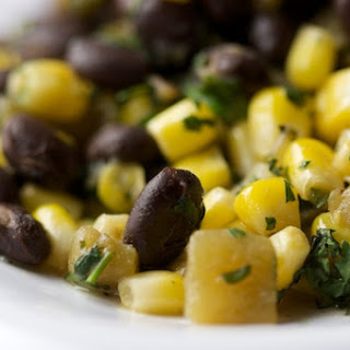 Black Beans and Corn with Green Chiles.