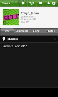 Green Day's official app- screenshot thumbnail